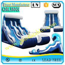 {Qi Ling}2016 top sale cheap best quallity inflatable water slide with pool, custom inflatable slip n slide for adult