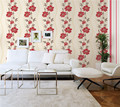 latest design beauty flower pvc vinyl wallpaper with bright color for living room bed room decoration