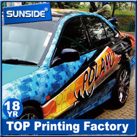 Commercial Free sample bubble free vinyl car sticker manufacturer in Shenzhen