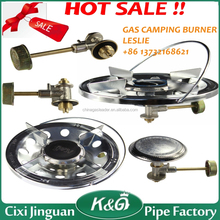 Italy model cast iron burner gas stove for camping or picnic, outdoor use gas cooker export to africa