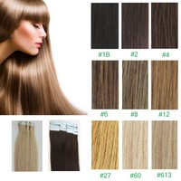 "Hot Sale Pu Tape In Hair Extensions Silky Straight Weave 50g/100g 16""-26"" Virgin Skin Weft Hair Real Remy Pre-bonded Hair"