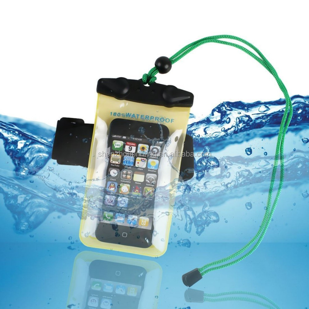 Custom logo outdoor underwater mobile phone PVC waterproof swimming bag, waterproof bag phone, water proof phone bag