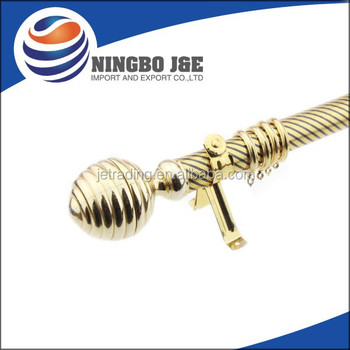 35mm Single Golden Curtain Pole with Curtain Accessories
