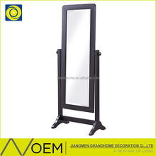 Wholesale New Design Unique Antique Wood Frame Stand Mirror