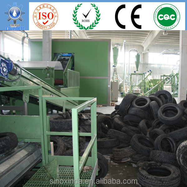 rubber recycling plant of grinding waste tires to rubber powder
