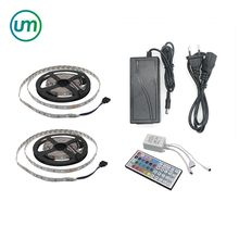10M SMD 5050 IP20 RGB LED Flexible Strip Light Kit 150LEDs 30LEDs/M with 44Keys IR Remote Controller with DC 12V Power Adapter
