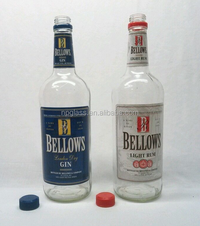 Bellows London Gin Rum 1L Duo Collectible Decorative Bottles