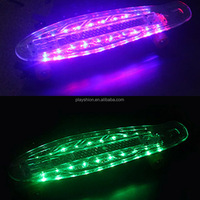 LED light skateboard with PU skate board wheels for best price