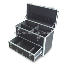 Aluminum Tool Case with Drawer and Trolley for Easy Carrying