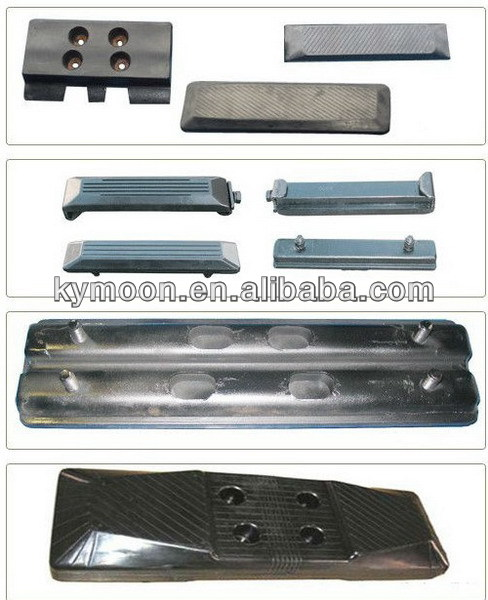 Rubber track Shoes and pad for SK135/R140 excavator,