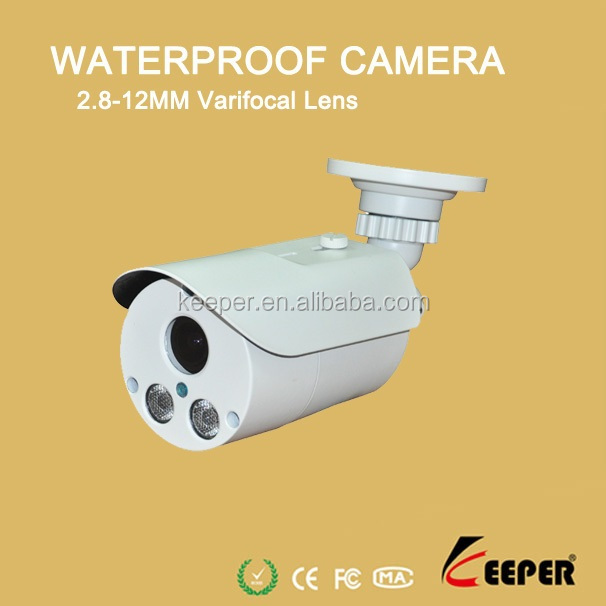 1080P Waterproof Bullet 2.8-12mm Varifocal Array Led lpr IP Camera