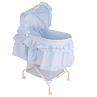 electric baby bassinet with wicker basket,baby automatic rocking crib,wicker baby pram basket