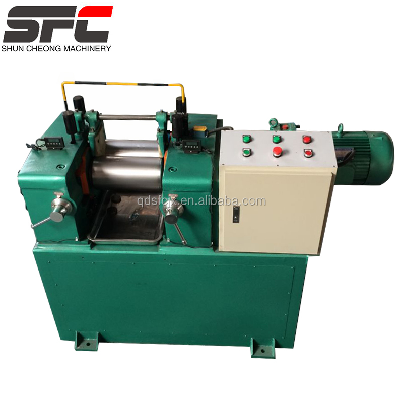 High technology small lab rubber mixing mill machine with two roller for making rubber product in china proffessional factory