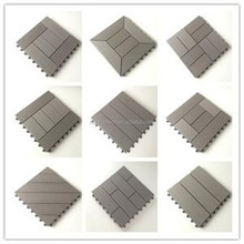 Anti-rot and anti-bending Burma outdoor wood composite deck tiles