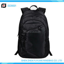 High quality eminent waterproof black hiking backpack for slim laptop