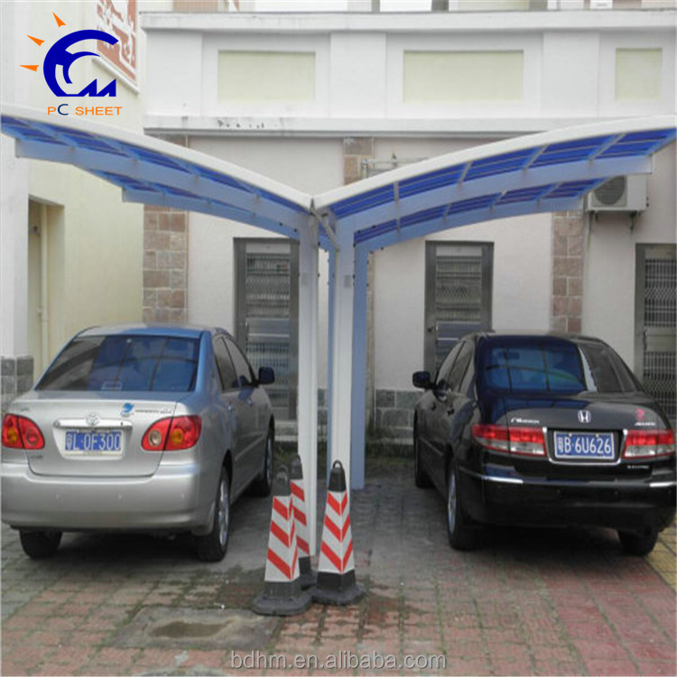 aluminum carport parking shed metal car canopy with polycarbonate arched roofing