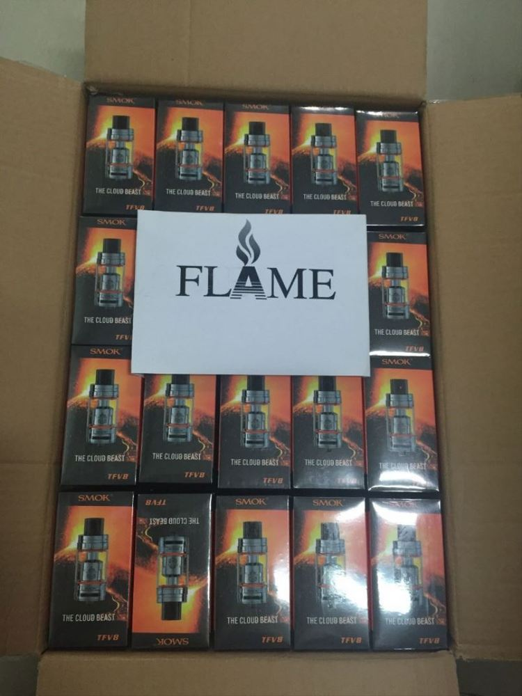 100% Authentic Flame offer Smoktech Cloud Beast Tank 5.5ml/6ml Top Filling Airflow Control black/silver Smok TFV8