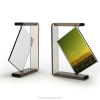 Hot acrylic rotating double photo frame wholesale
