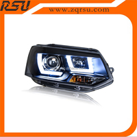 For VW T5 Light Guide LED HEAD LAMP Hid Xenon 2010-2014