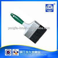 "2015 Good quality plastic and rubber handle tapered polyester 4"" paint brush"