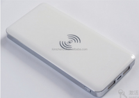 10000mAh Qi standard wireless charger power bank for mobile phone