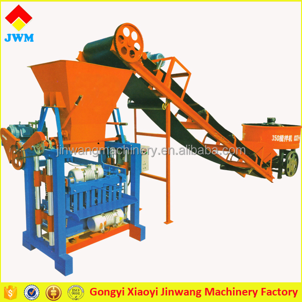 JWM professional manufacturer colorful road brick hollow block making machine in Kenya for sale