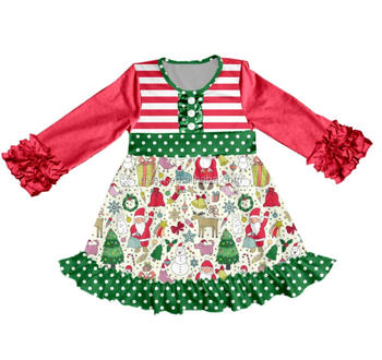Wholesale Baby Girls Boutique Dresses Wholesale children's boutique clothing well dress deer patter smocking handmade