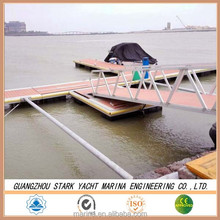 Marina high quality and hot selling floating pontoon bridge with deck