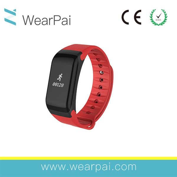 F1 ce rohs smart bracelet for mobile phone 2016 new led bluetooth bracelet motion counter with low price