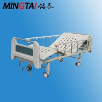 Hot sell cheap two crank manual hospital bed price