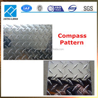 Compass Pattern and Five bar Aluminum Checkered Sheet Plate