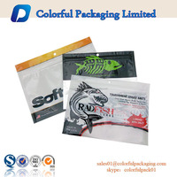 foil lined customized soft resealable ziplock plastic bait bags for fishing worm