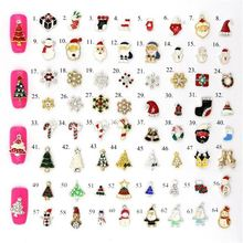 2017 fashionable 3D alloy material christmas Nail Art designs for nail decoration