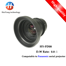 Factory direct sales HY-FD08 (0.8:1) short throw replacement lens for Panasonic Projector