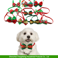 Pet Dog Cat Bow Ties Christmas Adjustable Cute Dog Bow Tie Collars Xmas Tags