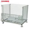 Warehouse folding stacking metal steel storage wire mesh cage