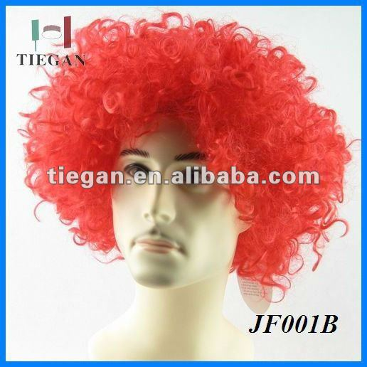 120 g World Cup Fan Wigs with no logo