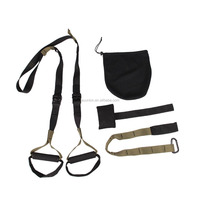Tension suspension Trainer fitness sling Basic strap /crossfit training kit