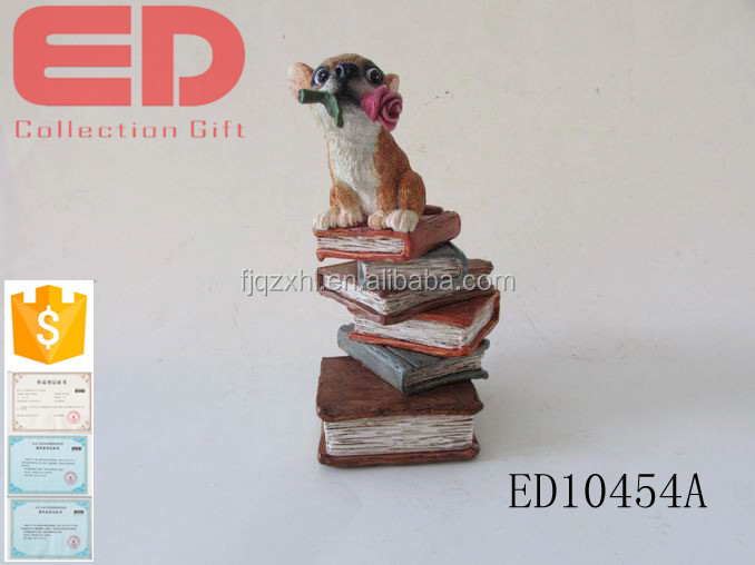 custom made hot sale resin dog figure for home decoration
