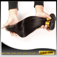 8A Grade Unprocessed Virgin Hair Weave Natural Color 1B Straight Brazilian Hair Bundles