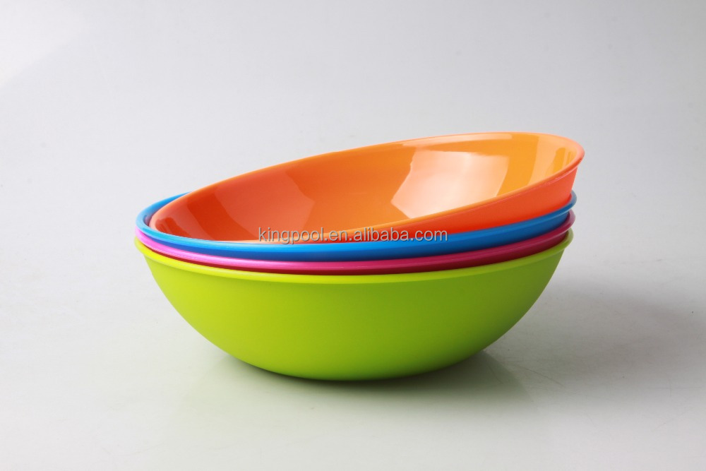 Wholesale cheap colorful food-grade PP Salad bowl