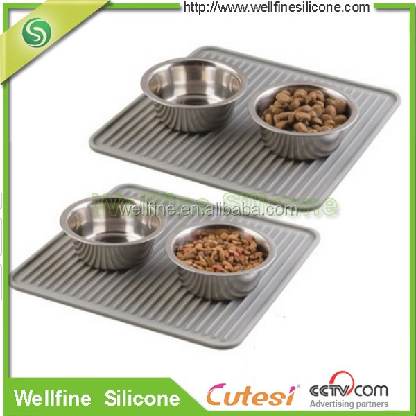 silicone pet food and water bowl feeding mat for cats and dogs