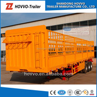 Cheap 3 axles rail fence semi trailer for sale
