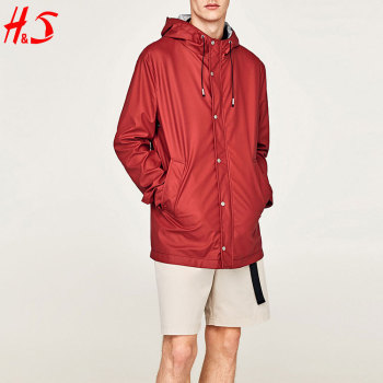 2018 New Design High Quality Man Stylish Hooded Parka Jacket