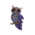 Fashion clothing accessories Accessories sapphire owl animal crystal brooch jewelry women for wedding broocheslry