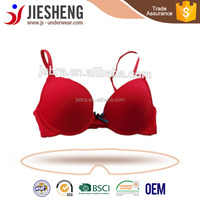 sexy teen girls bra,solid color bra cheap price ,red bra with bow for school girl (Accept OEM)