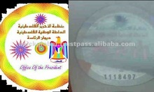 High Security & Quality Security Hologram Labels for Government,Public companies,Excise Labels