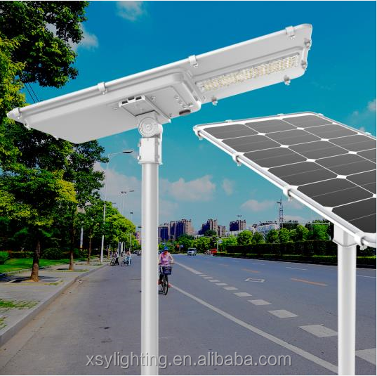 IP66 waterproof 40W good performance & newest all in one solar powered street lights outdoor
