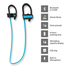 Embrace Wireless Bluetooth Earphone U10 Portable HiFi Stereo Music Sports Headset Ear Hook Fone De Ouvido for Exercise Running