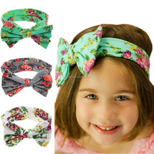 New Headband Chiffon Shabby Flowers vintage knit headband